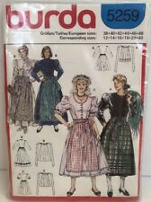Burda 5259 Women's Tyrolean Drindl Pattern  Sizes All 12 to 40 Mint Condition