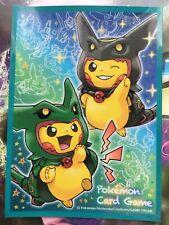 Sleeve Pikachu poncho Rayquaza protege carte Pokémon Cente deck shield card box