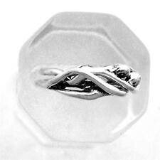 Man/Woman Embrace Puzzle Ring All Silver Heterosexual Bisexual Lovers