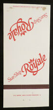 Star Ship Royale . Premier Cruise Line . Match Book Cover, Boat Federico Costa