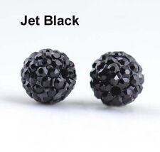 Shamballa Beads 100 Pcs Crystal Pave Disco Balls Fit Bracelet 10MM Jet Black New