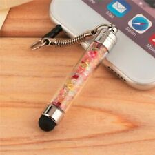 Diamond Crystal Stylus Touch Screen Pen 3.5mm Dust Plug Cap 2 in 1 For iPhone