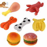 Pet Dog Puppies Heath Funny Sound Toy Silicone Non-toxic Chew Chicken Bit Toy