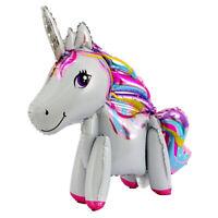 3D Jumbo Unicorn Rainbow Foil Balloon Children Baby Birthday Gift Party Decor