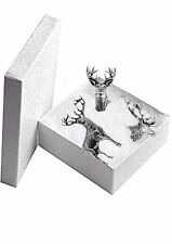 Stag Deer Pin Badge Set Pewter CODEA21A31A22 gift Set White Tailed Deer Stags