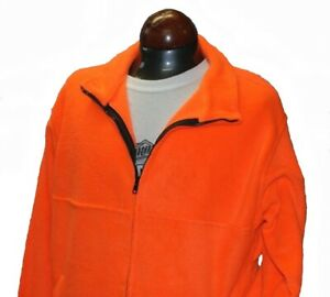 Fieldline Large Fleece Zip Up Jacket Bright Blaze Orange Hunting Hiking Camping