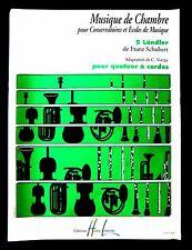 MUSIQUE DE CHAMBRE  5 LÄNDLER Franz SCHUBERT -Cordes- Ed. Henri LEMOINE 1997