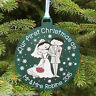 First Christmas as Mr & Mrs Gift Couple Personalised 1st Decoration Tree Bauble
