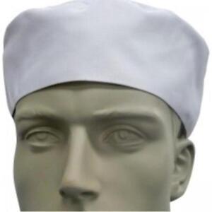 White Flat Top Chef Hat Unisex