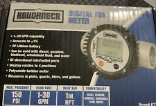 Roughneck Digital Fuel Meter Item 67164 Open Box Factory Sealed Meter Unused