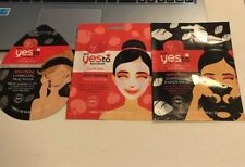 Yes To Tomatoes Charcoal Mud,  Paper Mask, Acne fighting Paper Mask  Lot of 3