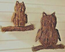 NWT NEW LIT TWIG OWL FAMILY Set of 2