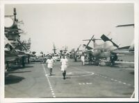 Photo Bradford Buccaneer's On HMS Victorious 4.5 x 3.75 inches deck shot