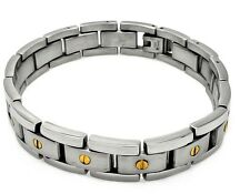 BRACELET MEN'S STAINLESS STEEL BRUSHED LOOK   / 9'' LONG/ AMAZING QUALITY!!!