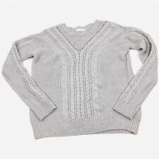 Line & Dot Anthropologie Gray Long Sleeve Crew Neck Sweater Size Medium