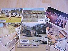 LE DERNIER SAFARI ! stewart granger jeu 8 photos cinema lobby card 1967 afrique