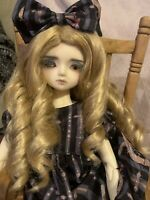 BJD Wig 7-8 1/4 Dirty Blonde Curly Jusuns Girl Wig Ball Jointed Doll Wig Only