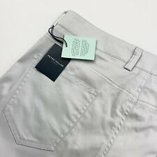 Peter Millar Collection The Perfect Poplin 5 Pocket Pants Platinum 38 x 34 $248