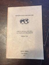 Jordan Lebanon Syria Annotated Bibliography Raphael Patai 1957