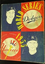 1955 WORLD SERIES GAME 7 PROGRAM BROOKLYN DODGERS VS YANKEES 1ST WS TITLE WIN!