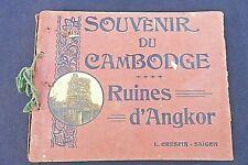 "Souvenir du Cambodge ""Ruines d'Angkor L.Crespin-Saïgon Réf 223"