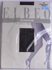"""Elbeo """"Glamour"""" Modestrumpfhose mit Lurex-Streifendesign schwarz Gr. M"""