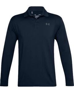 Under Armour UA Performance Textured Long Sleeve Polo Mens Golf Shirt 1361610