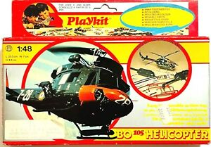 VINTAGE GAMES COLLECTION PLAYKIT BO 105 HELICOPTER 1/48 MODEL NEW IN BOX RARE