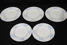 5pc Copeland Spode Blanche de Chine GEISHA BLUE #Y3456 Luncheon/Dinner Plates