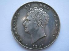 1826 Halfcrown, GVF cleaned in the past.
