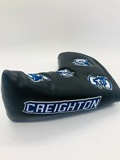 Creighton University Blue Jays Black Leather Magnetic Putter Blade Headcover