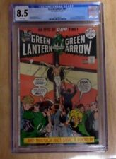 GREEN LANTERN #89 BEAUTY CGC 8.5 WHITE PAGES,1972,SYMBOLIC RELIGIOUS COVER!ADAMS
