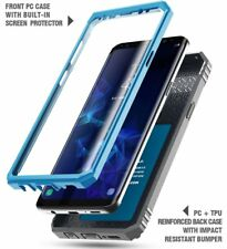 "For Samsung Galaxy S9 Case Poetic Revolution ""360 Degree Protection"" Cover Blue"