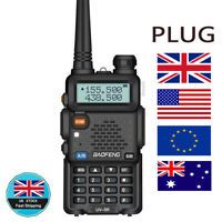 BAOFENG UV-5R VHF UHF Dual Band Two Way Ham Radio Transceiver Walkie Talkie UK~