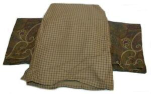 Ralph Lauren Coral Beach Plum 2 Paisley Standard Shams & Plaid Queen Bedskirt