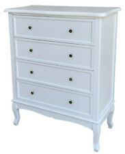 Chloe 4 Drawer Wide Chest of Drawers White