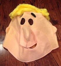Barney Rubble Fabric Mask Head Halloween Party Costume Flintstones Adult GUC
