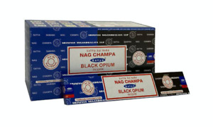 Satya Black Opium Nag Champa Incense Joss Sticks 15g available in 3 or 12 Pack