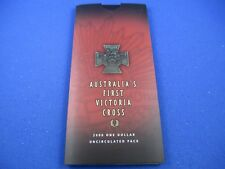 2000 AUSTRALIA'S FIRST VICTORIA CROSS - ONE DOLLAR UNCIRCULATED PACK - SUPERB!!!