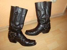 Herrenstiefel-Bikerstiefel-Boots - Gr.41 - echt Leder-schwarz-Mexico°°°°°°°°°°°°