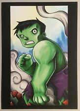 "Disney WONDERGROUND Postcard ""HULK SMASH"" MARVEL Hulk by Chris Uminga"