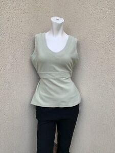 Vintage Next Pale Green Vest Top Size 18