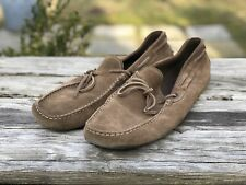 Tod's Gommini Suede Driving Moccasins Brown Size 10.5