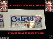 Optimus Fornello 8R Ricambio Decalcomania Adesivo Kerosene Stufa Primus Stufa