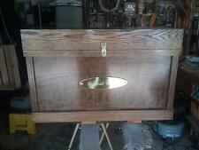 Tack Trunk w/bandage lid, brush tray/ stained dark walnut, gloss finish