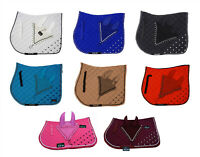 Numnah Saddle Pads with Matchy Bonnet Set With Jewel