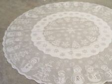 New Christmas Ivory lace Snowman design Tablecloth 70 round