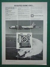 4/1979 PUB PRECISION DATA ASM ASW MAGNETOPHONE AN/AQH-4 (V)2 P3C ORION FRENCH AD