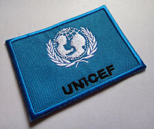 UNITED NATIONS CHILDREN'S FUND UNICEF FLAG Sew on Patch Free Postage