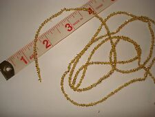 """2 Yards - Tiny Miniature Christmas Tree Tinsel  - Gold  1/16 """" thick ( 2 mm )"""